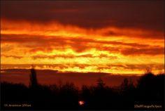 Sunrise 'fire in the sky' Amstelveen Holland