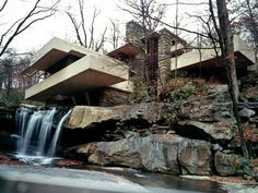 Fallingwater - Created by Frank Lloyd Wright in Stewart Township, PA