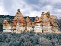 POTD October 22, 2013: Straight Cliffs Formation, Garfield County, Utah Photographer: Jim Kirkland  Hoodoos in the Calico sandstone of the Cretaceous-age Straight Cliffs Formation, Garfield County, Utah