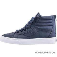 720c890bfc Vans Premium Leather SK8Hi ReIssue Zip (Mens) - Dress Blues True White  Authentic