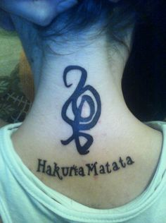 Hakuna Matata Tattoo Design - Tattoo Designs For Women