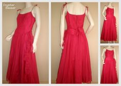 You can't get greener than vintage clothing - reusing old dresses like this really helps reduce waste and need for new textiles. Old Dresses, Formal Dresses, Vintage Clothing, Vintage Outfits, Reuse Old Clothes, Reduce Waste, Green Fashion, Upcycle, Recycling