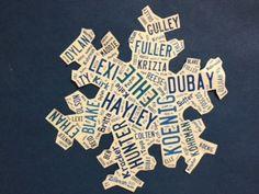 using classroom names to make a snowflake