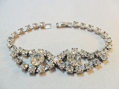Vintage / Antique Bracelet / Bangle Clear Glass by KathiJanes