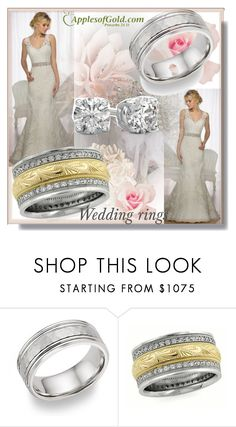 """""""Apples of Gold Jewelry """"Handmade-Diamond-Paisley-Wedding-Band-Ring 9."""" by sajra-de ❤ liked on Polyvore"""