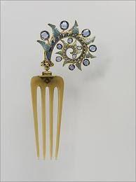 Enamel Lalique comb