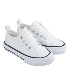 Look at this SKEANIE White Slip-On Sneaker on #zulily today!