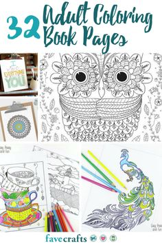32 Adult Coloring Book Pages