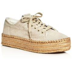 Tretorn Women's Eve Lace Up Platform Espadrille Sneakers ($105) ❤ liked on Polyvore featuring shoes, sneakers, natural, tretorn, lace up platform espadrilles, lace up shoes, lacing sneakers and laced up shoes