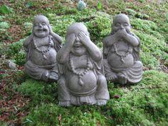 Buddha Buddha Buddha, Speak, Hear, See no Evil, Three Figures. $29.95, via Etsy.