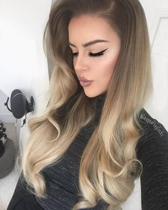 """Instagram media by imogenfoxylocks - Today Hair @foxylocks Superior 230g 20"""" Honey Spice Ombre Lipstick ~ @limecrimemakeup Cashmere Lip liner ~ @newlookfashion in Nude Lashes ~ @foxylocks in style 'Lovely' *doubled up* Eyeliner ~ @lauragellerbeauty Eye Calligraphy from @cultbeauty Highlight ~ @anastasiabeverlyhills That Glow Stardust Contour ~ @anastasiabeverlyhills Brows ~ @anastasiabeverlyhills Brow Wiz in Medium Brown"""