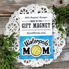 DRUMLINE MOM Gift MAGNET New in Package DecoWords Made in USA Fridge Drum Band