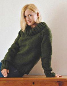 Knitting Needles, Free Knitting, Knitting Patterns, Crochet Patterns, Knit Shirt, Knit Crochet, Turtle Neck, Sweaters, Shirts
