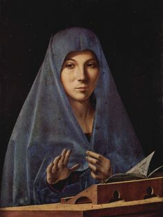 Antonello da Messina | La Madonna leggente/Annunziata/Virgin Annunciate, ca 1475, oil on wood, probably painted in Sicily. Housed in the Regional Gallery of Palazzo Abatellis, Palermo, southern Italy.