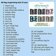 31 uses for all new All-Day Organizing Tote - New for Fall 2014! www.mythirtyone.com/Leisz