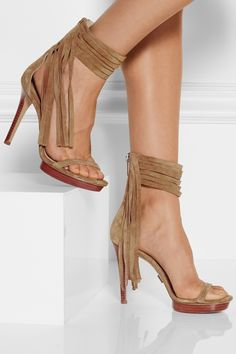 Michael KorsDaphne fringe suede sandalsfront