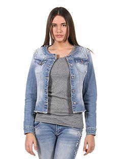 Giubbini jeans con strass