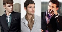 How To Tie Men's Scarves: Standard, Square, Pashmina,Snoods, Aviator, Chunky Winter, Ascot, Twice, Parisian, Fake, Four in Hand, Tie Behind