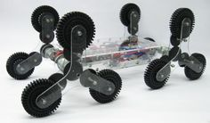 If the robot can climb stairs it would be really useful. This robot is designed to handle stair using Tri-wheels.