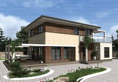 Проект двухэтажного пятикомнатного дома 156,6 кв.м. из SIP панелей