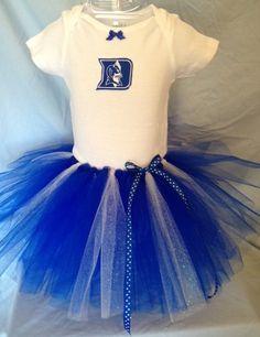 FREE SHIPPING Duke University Blue Devils Tutu Cheer Dress for Baby Girls
