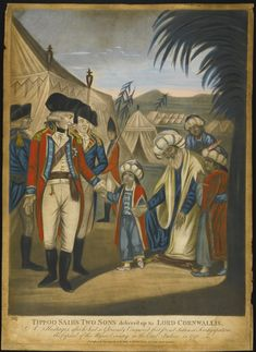Five framed prints relating to Tipu Sultan and the siege of Seringapatam, London, 1791-1804