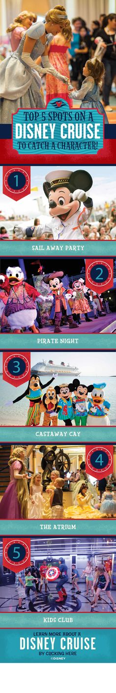 Love meeting Disney Characters? Find out where the best places to meet them are on-board a Disney Cruise!