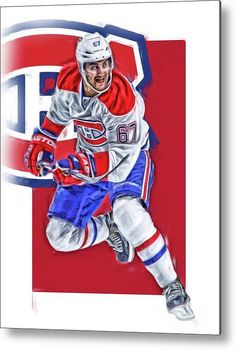 Max Pacioretty Metal Print featuring the mixed media Max Pacioretty Montreal Canadiens Oil Art by Joe Hamilton