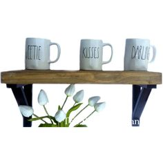 RusticPelican ($119) ❤ liked on Polyvore featuring reclaimed wood furniture, wooden shelf, wooden shelving, wood shelf and reclaimed barn wood furniture