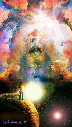 התעוררות, ציור קבלי, אמנות רוחנית, גלקסיות, יקום, אור, ציירת ישראלית,, אורית מרטין Awakening,    spiritual art, galaxy, universe, light, Israeli artist, www.oritmartin.com