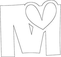 Letter M Coloring Pages For Kids - Preschool and KindergartenPreschool Crafts Alphabet Coloring Pages, Coloring Pages For Kids, Doodle Alphabet, Paper Flower Patterns, String Art Tutorials, Hand Lettering For Beginners, Alphabet Templates, Alphabet And Numbers, Letter Art