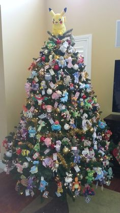 Pokémon Christmas tree > my Christmas tree but it would at least have a oldrivalshipping ornament