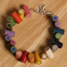 colored pencil bracelet... great gift for fellow art teacher pals