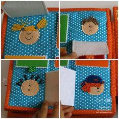 Handmade cloth quiet busy book for Sergio, emotions, развивающая книжка