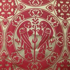 Silk Damask From Tomb of a Bohemian King Premysl Otakar II., 13th century. SOLD OUT, can be woven upon request.