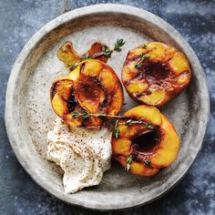 Honey-Glazed Roasted Peaches with Mascarpone