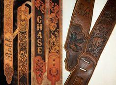 BurnMethod Personalized Guitar Straps & Leather Work on Behance