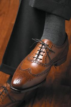 Sleek Wingtips #style #fashion