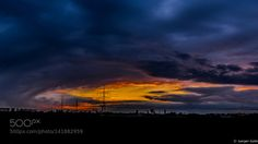 Abendhimmel by JuergenGatte  Sky Sunset Clouds Spring Industrie Abendhimmel JuergenGatte
