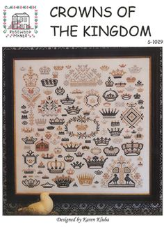 Rosewood Manor Crowns of the Kingdom - Cross Stitch Pattern