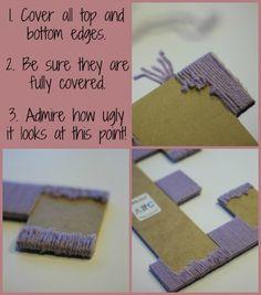 Embellished Yarn Wrapped Letter