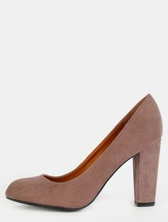 Online shopping for Faux Suede Round Toe Pumps TAUPE from a great selection of women's fashion clothing & more at MakeMeChic.COM.