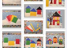 Winter Village Elementary Art inspired by Grandma Moses - Art Teacher Smile