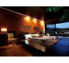 Japanese modern bedroom. Japanese Modern, Japanese House, Japanese Style Bedroom, Japanese Interior Design, Bedroom Pictures, Modern Bedroom, Master Bedroom, Room Interior, House Design
