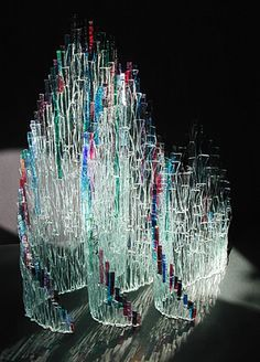 'Gundi' Art Glass Sculpture by Vivian Finch