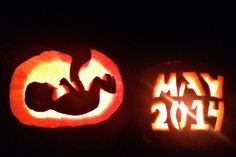 Pregnancy announcement. Baby announcement. Fall. Pumpkin carving ideas. Maternity. Announcement.