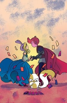 Adventure Time With Fionna & Cake: Card Wars #3 - Cover by Jen Wang: