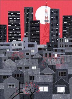 Tokyo In The Autumn Print By Ryo Takemasa