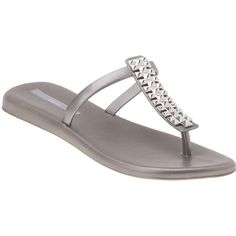cce86e5722bd3f MELISSA Make A Wish Flip Flop Silver Jelly found on Polyvore Melissa Flip  Flops