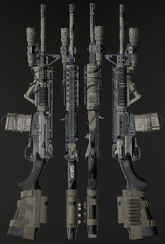 Sci Fi Weapons, Weapon Concept Art, Zombie Weapons, Fantasy Weapons, Weapons Guns, Guns And Ammo, Tactical Rifles, Firearms, Airsoft